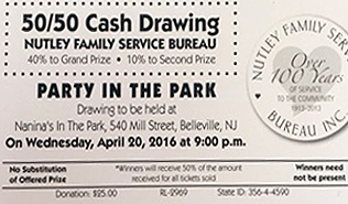 50/50 Cash Drawing Party In The Park