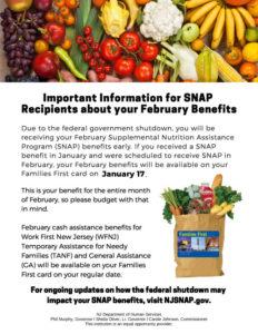 Federal Shutdown SNAP Flyer