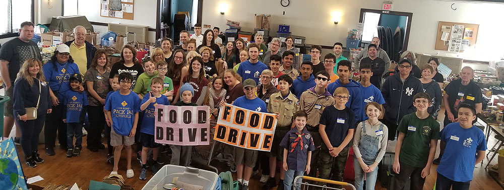 Scouting for Food Drive to Benefit the NFSB Food Pantry Is Back in 2021!