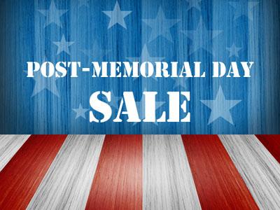 Post Memorial Day Sale