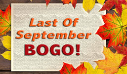 Last Of September BOGO!