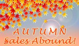 Autumn Sales Abound