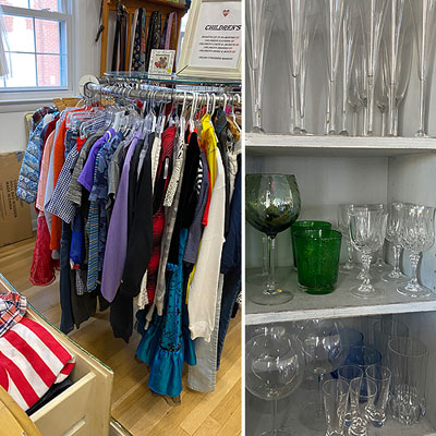 Glassware and Children's Clothing