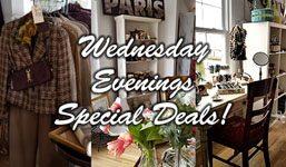 Wednesday Evenings Special Deals