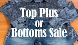 Tops Plus or Bottoms Sale
